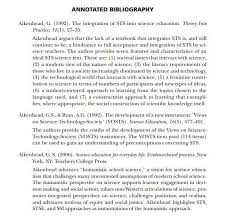 Examples Of Annotated Bibliography In Apa Format For Websites