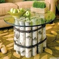 natural birch logs round glass top coffee table httpbestpickr awesome tree trunk table 1