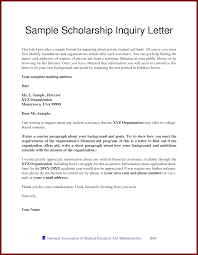 13 example of a scholarship letter sendletters info sample scholarship inquiry letter this letter provides a sample