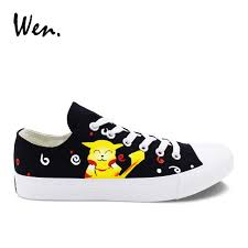 Online Shop <b>Wen</b> Black Low Top <b>Casual Flat</b> Men <b>Canvas Shoes</b> ...