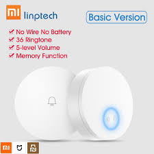 Xiaomi Mijia <b>Youpin</b> Linptech <b>Self Powered Wireless Doorbell</b> Self ...