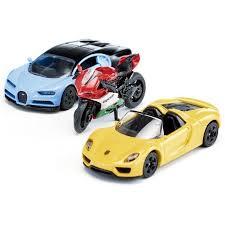 Игровой набор <b>SIKU</b> Спортивные <b>машины</b> и <b>Мотоцикл</b> - купить ...