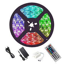 <b>LED Strip Lights</b> 16.4ft 5M <b>RGB</b> 5050 with 44Key IR Remote Control ...