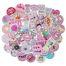 51PCS Waterproof Cute Pink Girls Vinyl Stickers for ... - Amazon.com