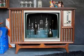 vintage tv television cocktail bar cabinet by daniel knispel built home bar cabinets tv