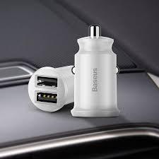[STOCK READY]<b>BASEUS</b> 3.1A Car Charger <b>Grain</b> Mini <b>Dual</b> USB ...