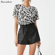 Plus Size <b>Women 2019 Leopard</b> Print Blouse <b>Summer</b> Sexy V Neck ...