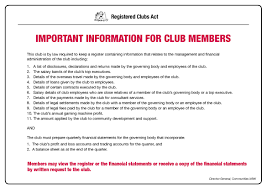 registered clubs act carnarvon golf club rc act