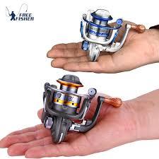 10BB 5.5:1 Mini <b>Fishing Reel Metal</b> Coil Ultra Light Small <b>Spinning</b> ...