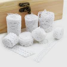Free shipping <b>10 yards</b> /<b>lot White</b> Cotton <b>Lace</b> Cloth Wrap Knitting ...