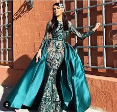 Luxury Dark <b>Green</b> Mermaid <b>Prom</b> Dresses Sparkle <b>Sequins</b> Lace ...