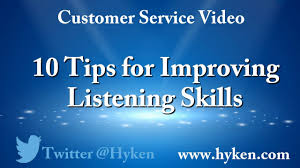 customer service tip tips to improve your listening skills customer service tip 10 tips to improve your listening skills