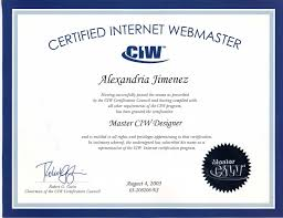 teacher tech trends degrees certificates certified internet webmaster master designer certification 2003