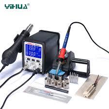 <b>YIHUA 995D+ Soldering station</b> 60W soldering iron 650W hot air ...