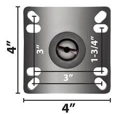 "5"" UNIVERSAL PLATE CASTER <b>4 PC SET</b> | BK Resources"