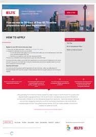 website for idp ielts convergine in addition to those functions the page contains a clear set of instructions of how to apply to prepare for and book an ielts test
