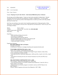 email resume sample resume copy and paste template 5 email example to recruiter executive resume template email example to recruiter 129279127 5 email example