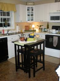 functional mini kitchens small space kitchen unit: kitchen remodel with black wooden movable small kitchen islands with rectangle glass top and wooden stools
