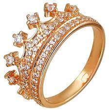 SOKOLOV <b>Кольцо Корона с фианитами</b> из серебра с позолотой ...