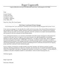cover letter project manager template cover letter project manager