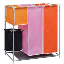 3-Section Laundry Sorter Hamper with a Washing Bin Sale, Price ...