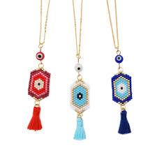 Women's Gold Plated White Turquoise <b>Geometry</b> Pendant Short ...
