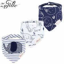 <b>ZAFILLE</b> Muslin Baby Bibs 3pcs <b>Organic Cotton</b> Baby Scarf ...