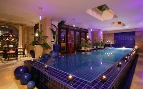 awesome white blue wood glass amazing indoor pool lighting