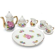 8Pcs/Set Porcelain Tea Set Teapot Ceramic <b>Retro Style Coffee</b> ...