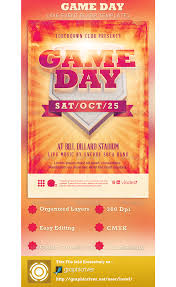game day event flyer template com