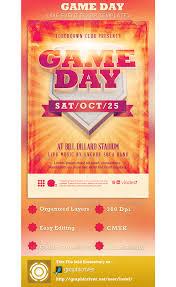 game day event flyer template psdbucket com