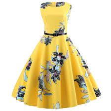 <b>Yellow Party</b> Dresses Women <b>Summer Elegant</b> Beach Midi Dress ...