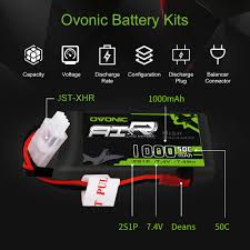 <b>Ovonic</b> 1000mAh 2S 7.4V 50C Lipo Battery <b>Pack</b> with JST Plug for ...