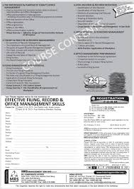 effective filing record office management skills training filing
