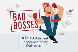 in employed brits feel unappreciated by their boss bad bosses