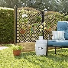 BrylaneHome Trellis Fence, Set of 2, Bronze : Garden ... - Amazon.com