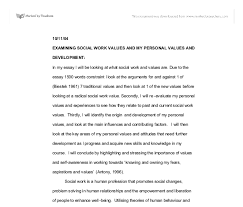 examining social work values and my personal values and    document image preview
