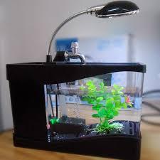 electronic fish tank office desk aquarium