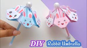 How to make a paper <b>cute rabbit</b> umbrella / DIY umbrella / origami ...