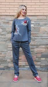 """Женский спортивный костюм """"Игривый май"""" с ручной вышивкой ..."""