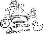 Картинки еда раскраски для детей чёрно белые