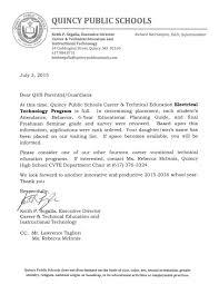 cvte waiting list letter quincy public schools cvte waiting list letter