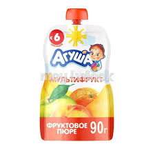 <b>Пюре фруктовое Агуша</b> Мультифрукт 90г - 4690228028861