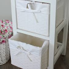 white storage unit wicker:  white wicker  drawer storage unit