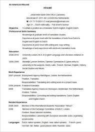 microsoft word resume samples examples sample american resume template
