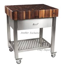 kitchen cart stainless steel length