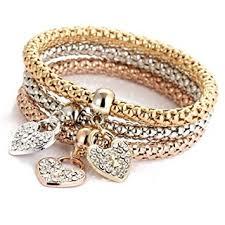 3pcs set fashion bracelets set temperament 8 word love for women simple retro digital