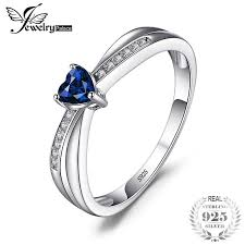 <b>JewelryPalace</b> Love Heart <b>0.4ct</b> Created Blue Sapphire ...