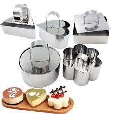 1X <b>Stainless Steel</b> Mousse <b>Cake Ring</b> Mold <b>Dessert</b> Pusher Lifter ...