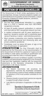 new jobs in chief minister secretariat govt of sindh karachi